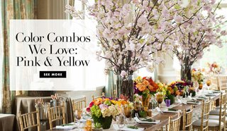 pink-yellow-wedding-decor-details-flowers-aisle-napkins-paper-goods-color-combos-nuptials-spring