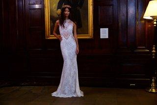 berta-bridal-fall-winter-2016-wedding-dress-sleeveless-sheer-bodice-high-neck-beading