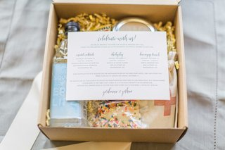 celebrate-with-us-welcome-box-water-cookie-emergency-kit-with-itinerary-for-weekend