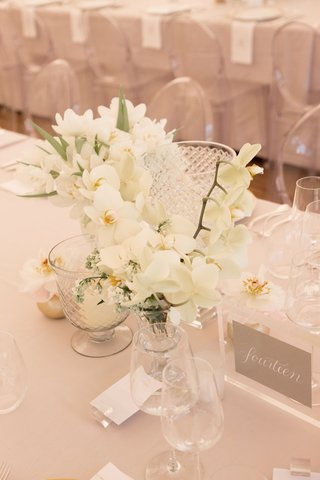 all-white-flowers-in-small-crystal-goblet-vase