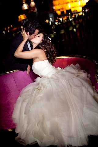 bride-kisses-groom-at-beverly-hills-hotel-wedding