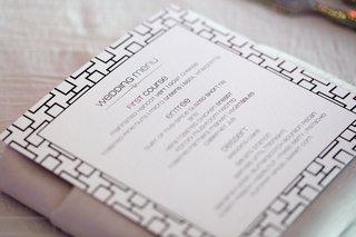 geometric-pattern-border-on-wedding-menu-card