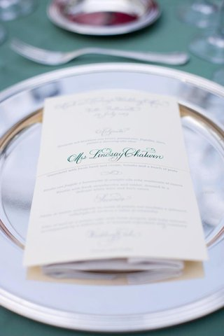 personalized-wedding-menu-card-with-green-calligraphy