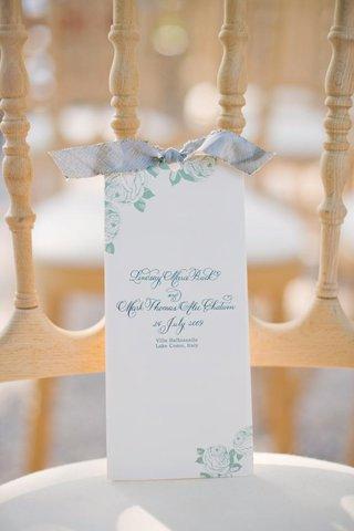 blue-and-green-vintage-inspired-wedding-program