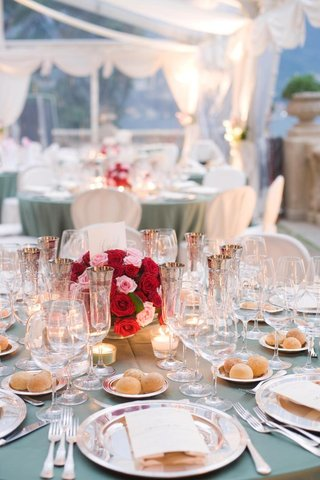 vintage-style-wedding-reception-table-with-silver-pieces