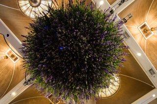 greenery-flowers-hanging-floral-chandelier-garden-inspired-reception