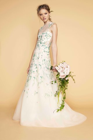 sabrina-dahan-high-neck-illusion-wedding-dress-sheer-cutout-and-neck-with-flower-print-embroidery