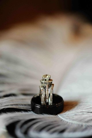 ebony-wedding-band-and-three-band-engagement-ring