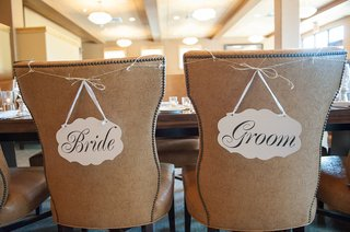 bride-and-groom-in-calligraphy-on-die-cut-wedding-signs-on-back-of-chairs