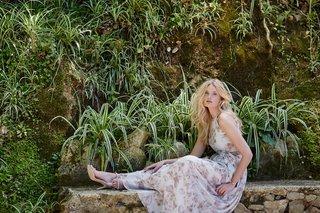 flower-print-donna-morgan-wedding-dress