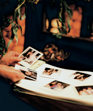 wedding-guest-polaroid-photos-taped-to-guest-book