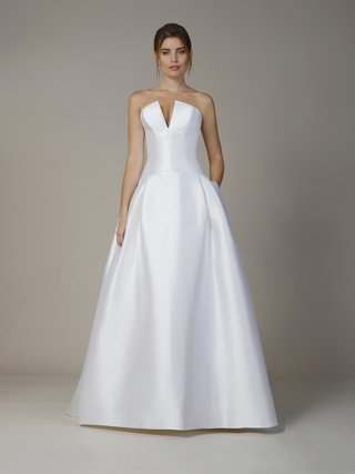 liancarlo-fall-2018-soft-mikado-strapless-drop-waist-a-line-gown-with-pockets