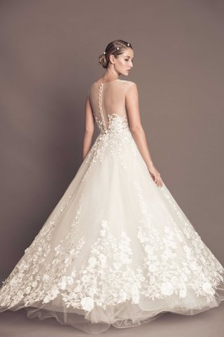 illusion-tulle-back-wedding-dress-with-ball-gown-skirt-francesca-miranda-fall-2016-collection