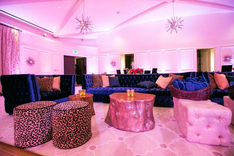 Velvet Upholstered Lounge Seating