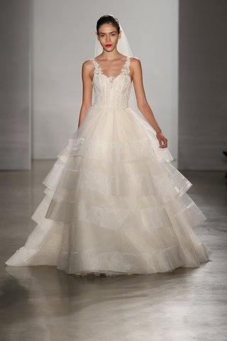 kenneth-pool-fall-2016-ivory-ball-gown-wedding-dress-with-tiered-skirt