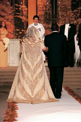 honey-colored-hooded-wedding-train-designed-by-bob-mackie