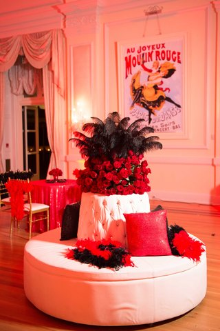 moulin-rouge-theme-wedding-after-party-with-black-feather-boas-red-roses-red-linens-posters