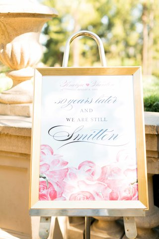thirty-year-wedding-anniversary-vow-renewal-sign-with-pink-watercolor-rose-design-quote
