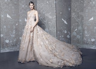 romona-keveza-collection-bridal-fall-2018-blush-wedding-dress-ball-gown-with-flower-embroidery-lace