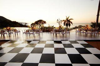 custom-black-and-white-square-checker-dance-floor-at-wedding
