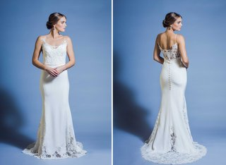 jinza-couture-bridal-2016-beach-wedding-dress-with-spaghetti-straps-and-sheer-lace-back