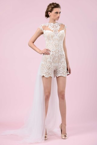 gemy-maalouf-2016-wedding-bridal-romper-with-lace-and-train