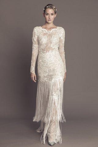 francesca-miranda-fall-2016-long-sleeve-lace-wedding-dress-with-fringe-skirt