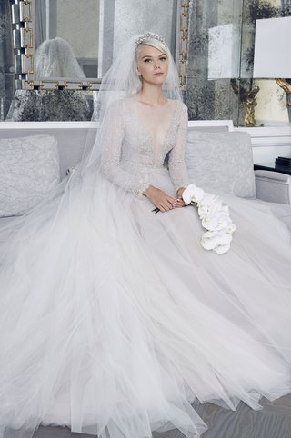 romona-keveza-collection-bridal-fall-2018-long-sleeve-ombre-wedding-dress-tulle-skirt-illusion-gown