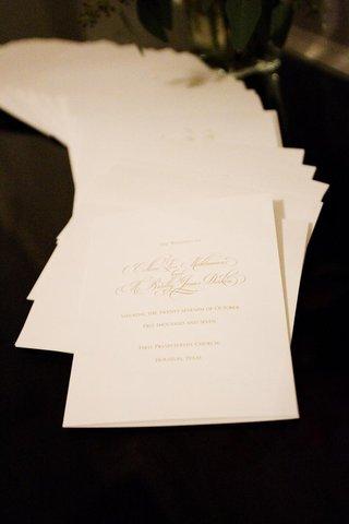 wedding-program-on-ivory-stationery-with-gold-ink