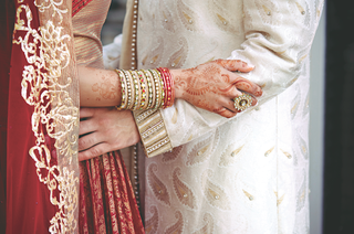 indian-bride-and-groom-in-lehenga-and-sherwani