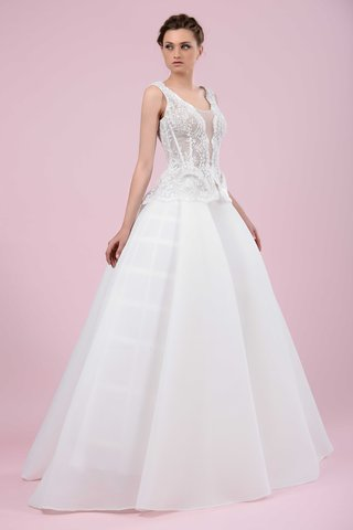 gemy-maalouf-2016-ball-gown-skirt-with-illusion-plunging-neckline-bodice