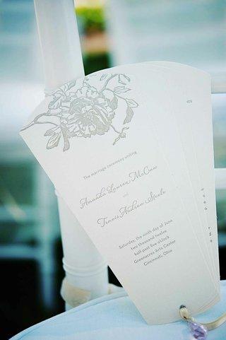 white-and-grey-wedding-program-in-fan-shape