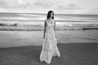 black-and-white-photo-of-lihi-hod-2016-spaghetti-strap-wedding-dress