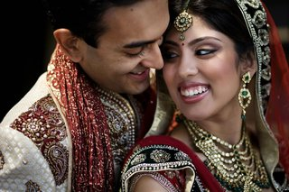 indian-bride-and-groom-in-lengha-and-sherwani