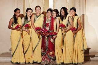 indian-bridal-attire-and-women-in-traditional-sari