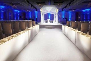 white-indoor-wedding-ceremony-decorations