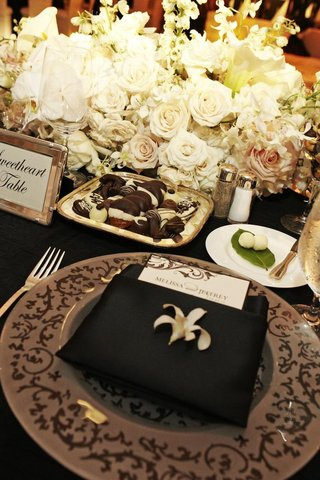 plate-of-chocolate-desserts-on-black-sweetheart-table