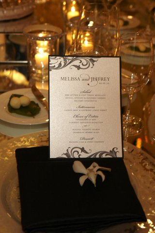 shimmer-silver-wedding-menu-card-with-rhinestone