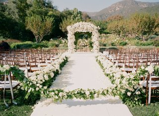 white-aisle-runner-lined-with-ivory-flowers-in-montecito