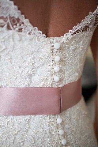 lela-rose-lace-wedding-gown-with-blush-satin-ribbon-detail