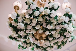 wedding-reception-at-montage-laguna-beach-with-gilt-chandelier-pink-and-white-hydrangeas