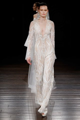 naeem-khan-bridal-spring-2017-berlin-jumpsuit-wedding-dress-ensemble-long-sleeves-plunging-neckline