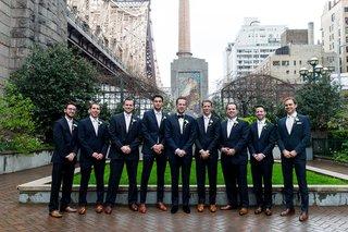 groomsmen-in-suits-groom-in-velvet-dress-shoes-groomsmen-in-brown-dress-shoes-new-york-city