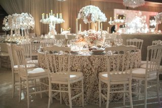 lace-linens-with-white-chairs-white-and-neutral-wedding-reception