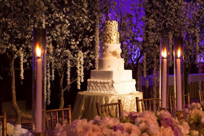 Cake with Enchanting Cherry Blossom Trees