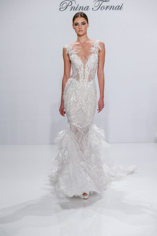 pnina-tornai-for-kleinfeld-2017-dimensions-collection-v-neck-mermaid-wedding-dress-with-long-train