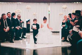 vibiana-wedding-ceremony-drapery-white-flowers-ring-bearer-and-flower-girl-formal-attire