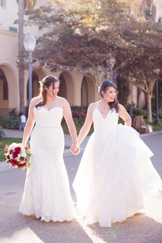 same-sex-wedding-lesbian-couple-bride-in-hayley-paige-bride-in-winnie-couture