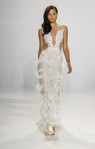 christian-siriano-for-kleinfeld-bridal-illusion-wedding-dress-with-feather-details-on-skirt