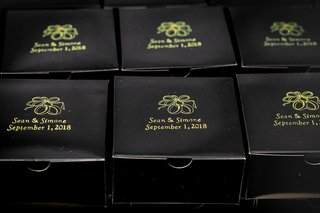 custom-wedding-favor-boxes-in-black-with-gold-printed-name-and-wedding-date